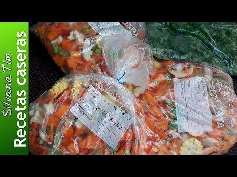 COMO CONGELAR Vegetales (verduras) en casa sin blanquear. Vegetales congelados - YouTube