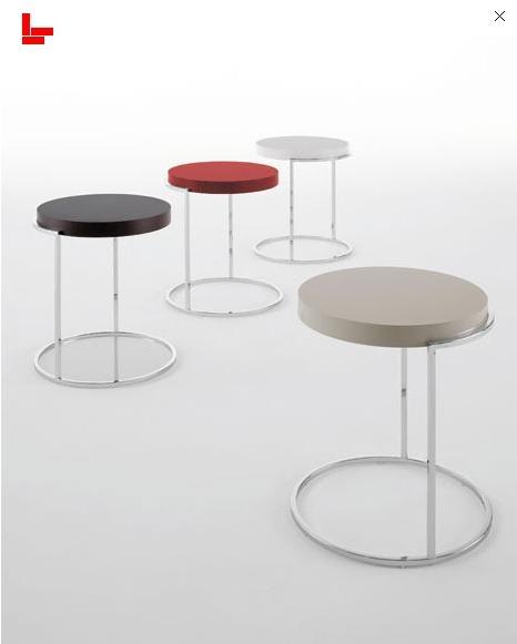 Pianca servogiro mesas laterales en diferentes acabados. Disponibles