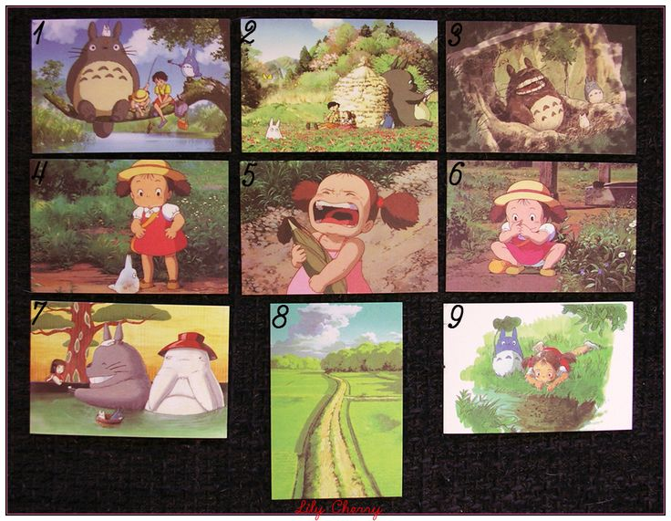 "Mini Carte ghibli totoro kiki chihiro arrietty ponyo mononoké asiatique ""modéle 7"" x1 : Papeterie, carterie par lilycherry"