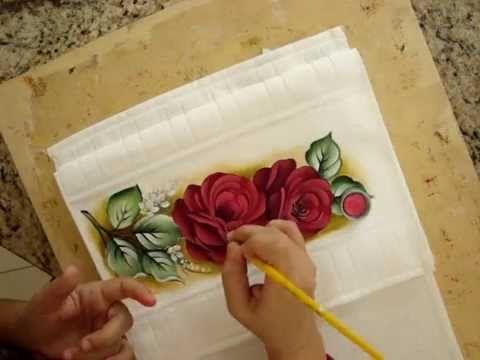 Como pintar Rosa vermelha #epsf - YouTube
