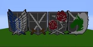 Risultati immagini per minecraft pixel art attack on titan