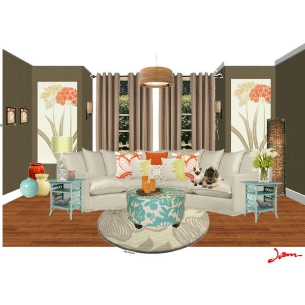 Orange Home Decor, Home Decor