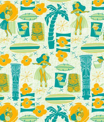 Mid-Century Tiki Art Print