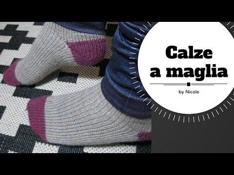 Come realizzare calze a maglia / knit toe up socks - YouTube