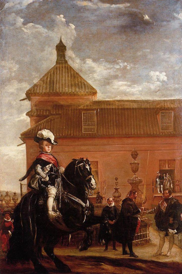VELÁZQUEZ, Lección de equitación del príncipe Baltasar Carlos, 1636, Colección Duque de Westminster, Londres