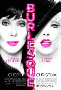 Burlesque - Cher, Christina Agulera – lots of good song & dance