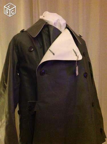 France 1950 S 1960 S Reversible Military Raincoat For