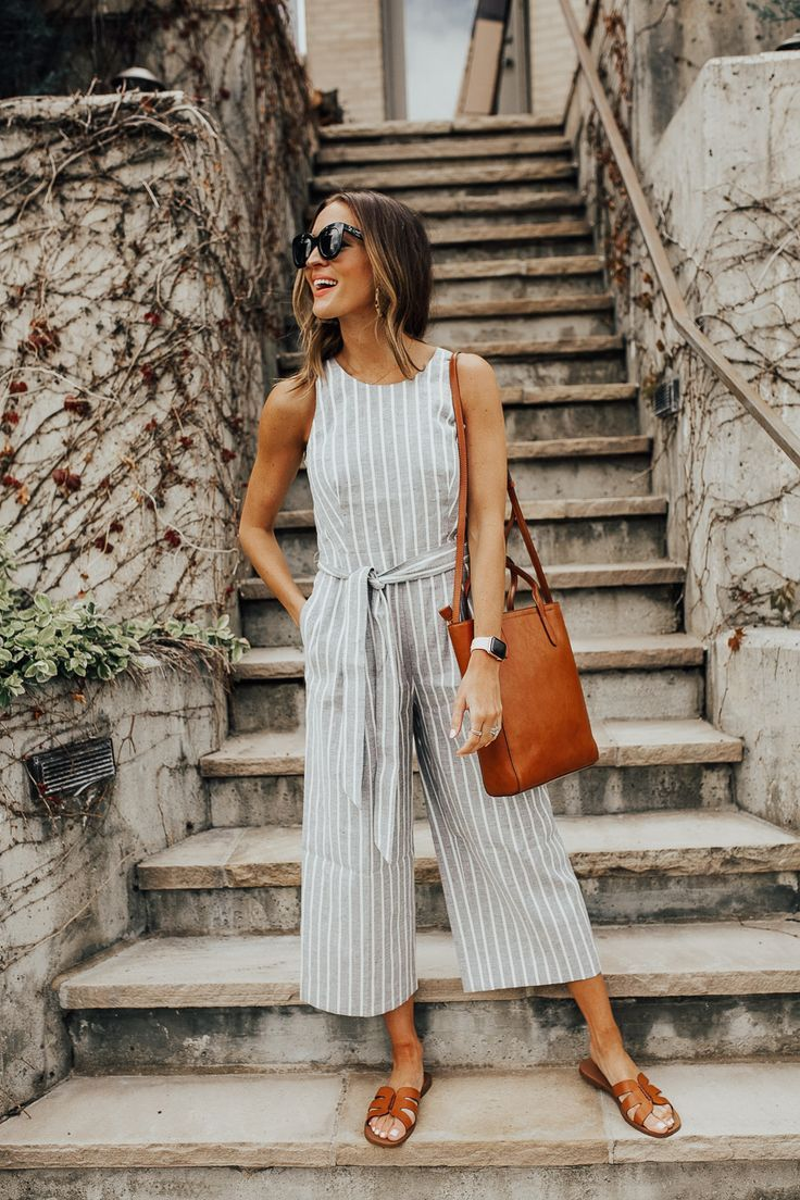 Wide-leg jumpsuit + sunglasses