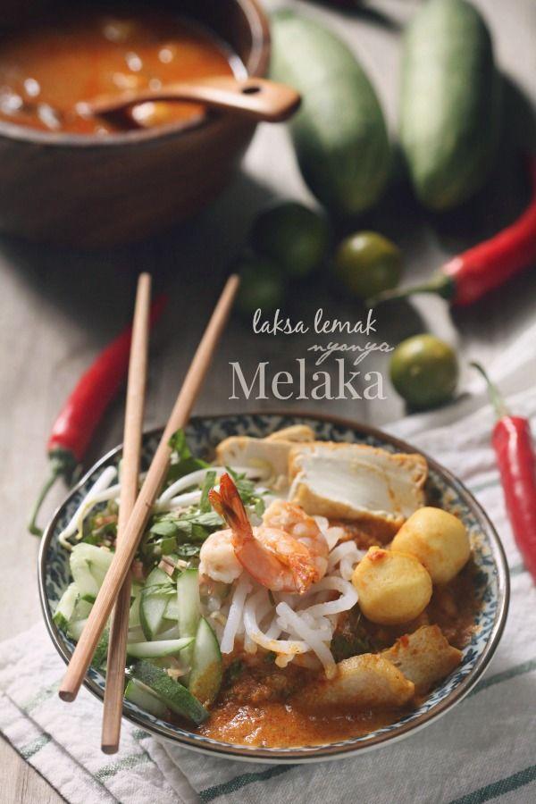 Laksa Lemak Nyonya Melaka Asian Recipes Laksa Food