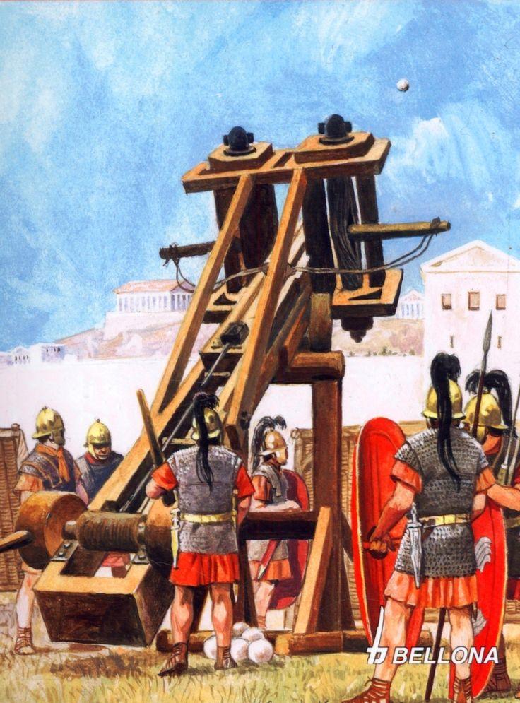 Balista de los muchachos de Julio durante el asedio de Massilia (49 a.C.)