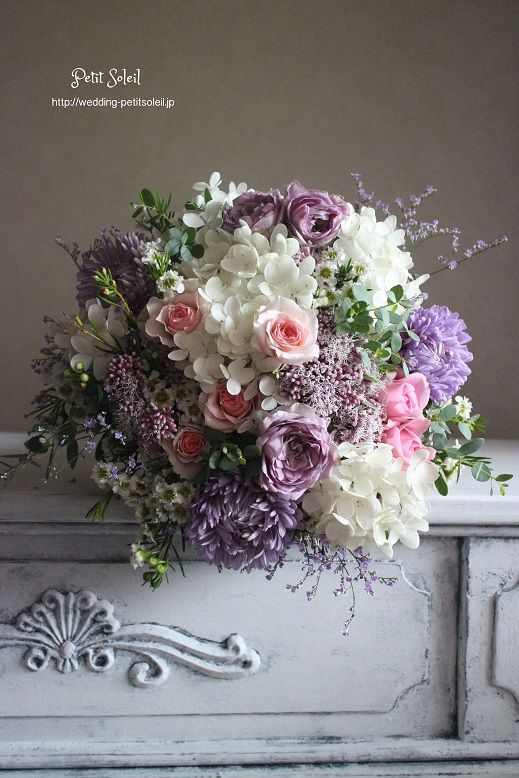 ブーケ 紫ピンク bouquet lavender pink