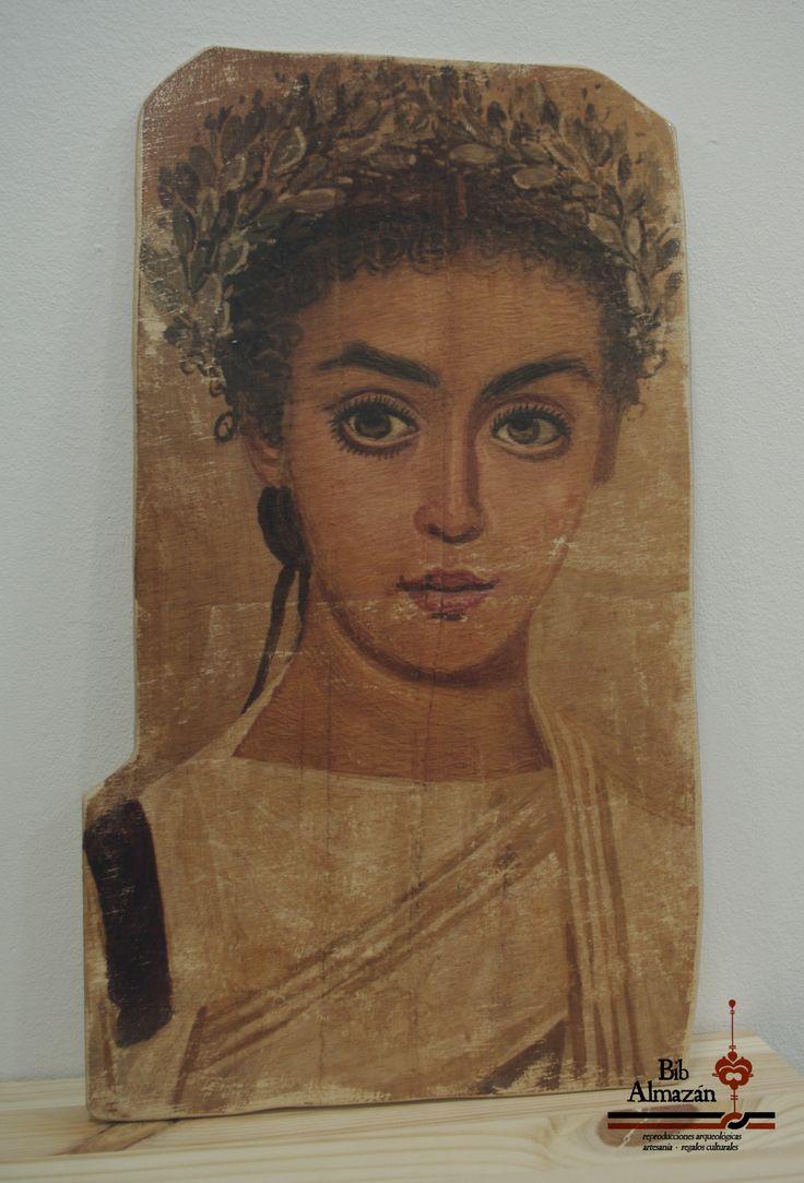 Reproducción de retrato romano de El Fayum (Egipto). Siglos I-II d.C.