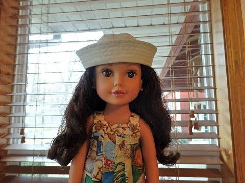 How to Make a Sailor's Cap for Dolls Part 4 - YouTube