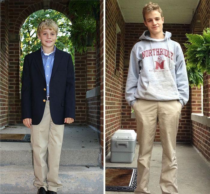 Első és utolsó nap az iskolában | Forrás: boredpanda.com