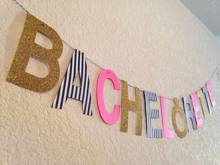 Bachelorette Banner by LetsPartyHardy on Etsy https://www.etsy.com/listing/271108877/bachelorette-banner
