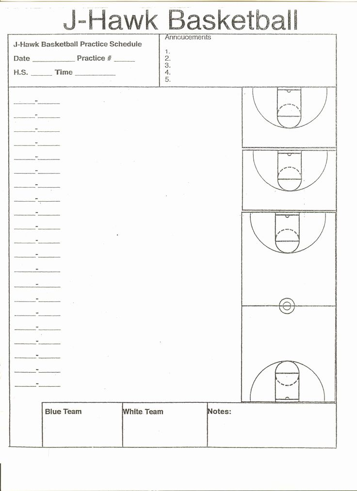Basketball Practice Plan Template Pdf Awesome High School ...