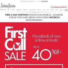 Hundreds of Arrivals to First Call: Up to 40% off!