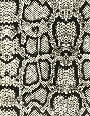 black and white faux snakeskin (vinyl)