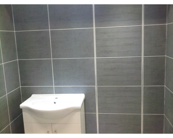 Grey Tile White Grout