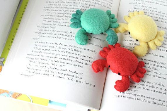 Patterns Felt Crab Pin Cushion Plush by typingwithtea on Etsy, $5.00