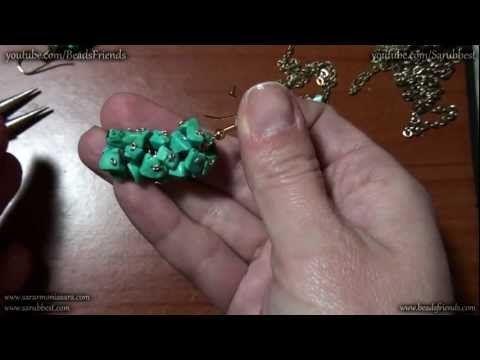 Tutorial Orecchini fai da te: orecchini a grappolo con chips di turchese | Tutorial Perline