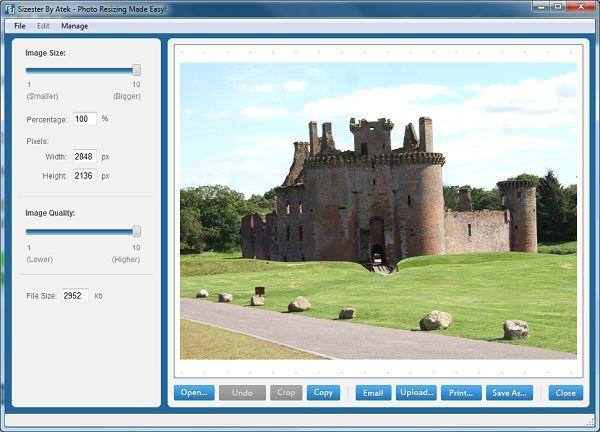 برنامج Sizester لتصغير حجم وأبعاد الصور Desktop Screenshot Screenshots Art
