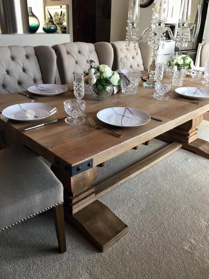 Hamptons Collection Solid Hardwood Dining Table (Suite Options Also Available)
