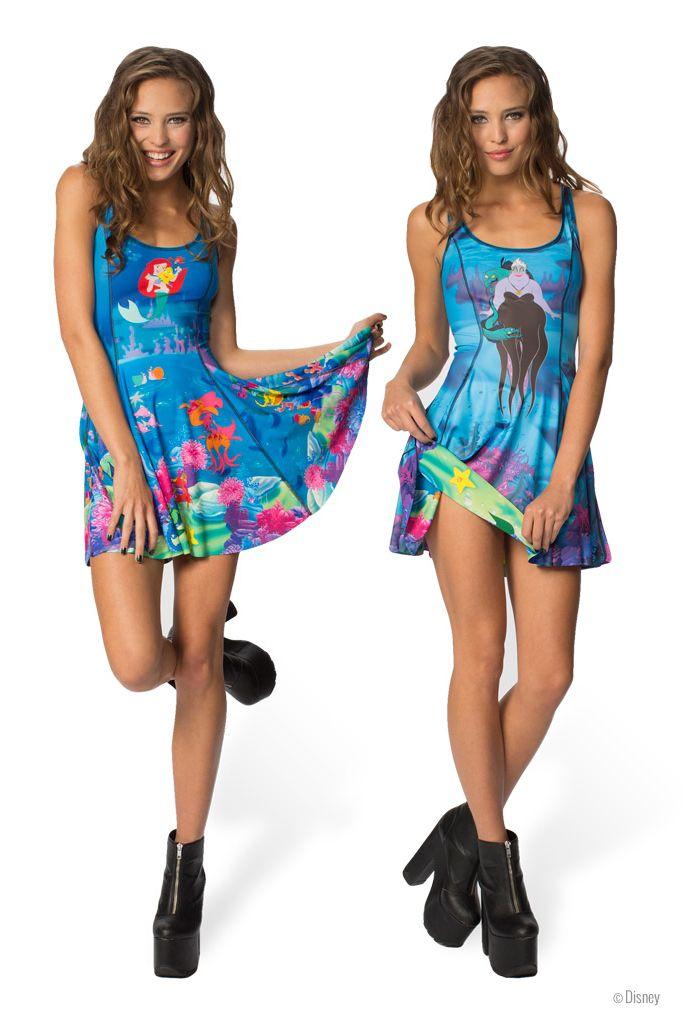 Ariel Vs Ursula Inside Out Dress - LIMITED (WW $180AUD / US $175USD) by Black Milk Clothing