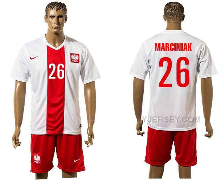 http://www.yjersey.com/poland-26-marciniak-home-euro-2016-jersey.html POLAND 26 MARCINIAK HOME EURO #2016 JERSEYOnly$30.00  Free Shipping!