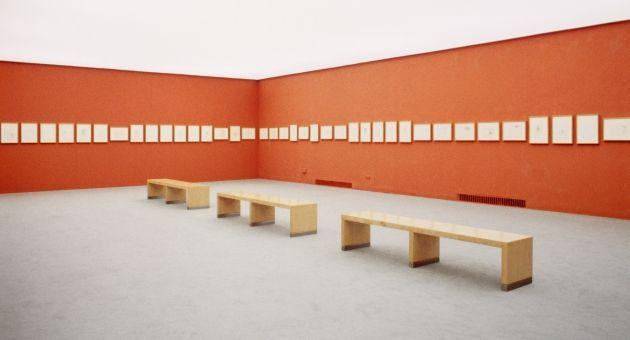 Leonardo da Vinci : Joseph Beuys. The Codex Leicester from Today's Perspective, installation view, Haus der Kunst, 1999, photo Wilfried Petzi