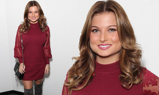 Zara Holland oozes sex appeal in thigh-skimming dress and racy boots