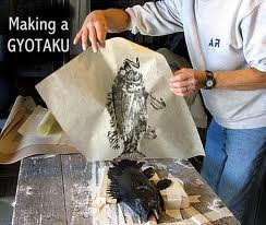making a gyotaku