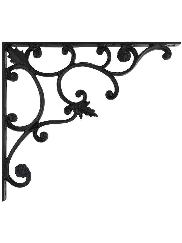 Large Cast-Iron Shelf Bracket with Vine Pattern    House of Antique Hardware