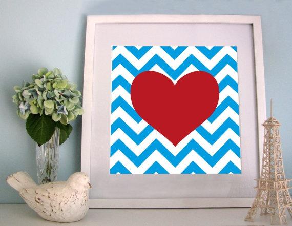 Custom Prints : My Sweet Prints - Chevron Love xo