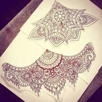 lace sternum tattoo - Google Search