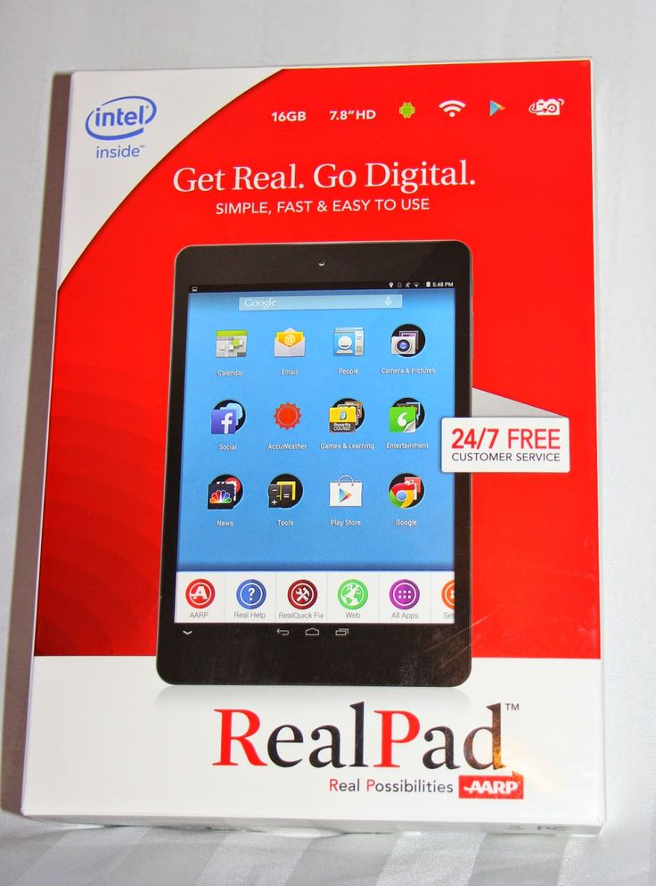 Working Mommy Journal: RealPad: The Tablet for All Ages #review #giftguide #AARP