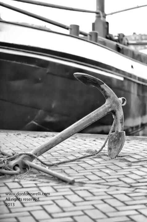 Anchor at the old harbor of Amsterdam