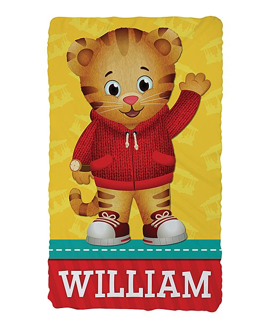 Daniel Tiger Hello Fuzzy Personalized Throw Blanket