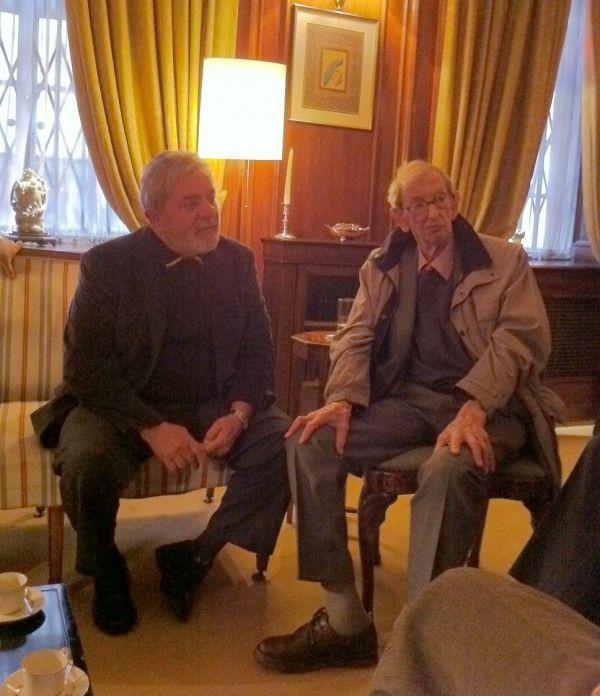 Lula e Hobsbawm, durante encontro em abril de 2011