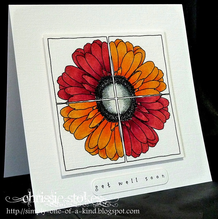 gorgeous. Get well card with faux tile look