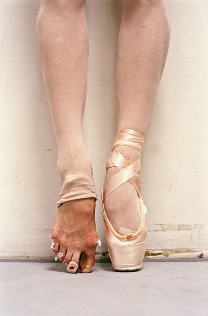 Did you know that ballerinas put their entire body weight on their big toes?