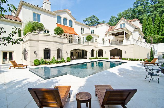 : Future Houses, White Houses, Dreams Houses, Dreams Home, Dreams Backyard, Outdoor Patio, Pools Parties, Guest Houses, Patio Ideas