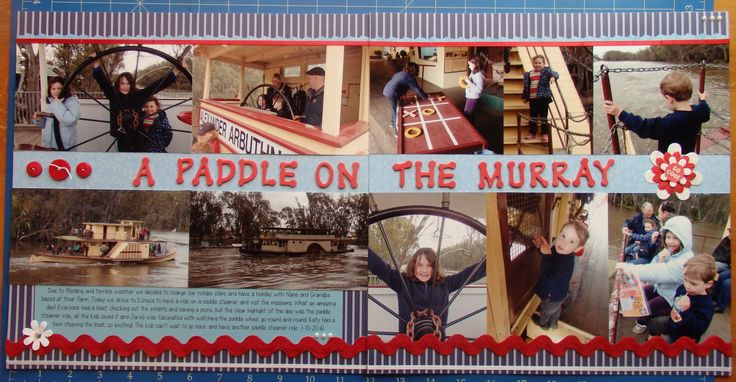 Scrapbook page by Laura: A paddle on the Murray
