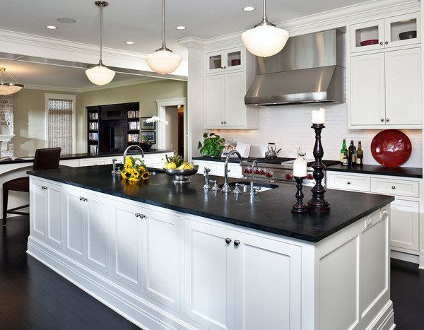 10 Of The Hottest Kitchen Counter Top Materials Yahoo Homes Loved Their Ideas Ab Black Quartz Kitchen Countertops Slate Kitchen Countertops Slate Kitchen