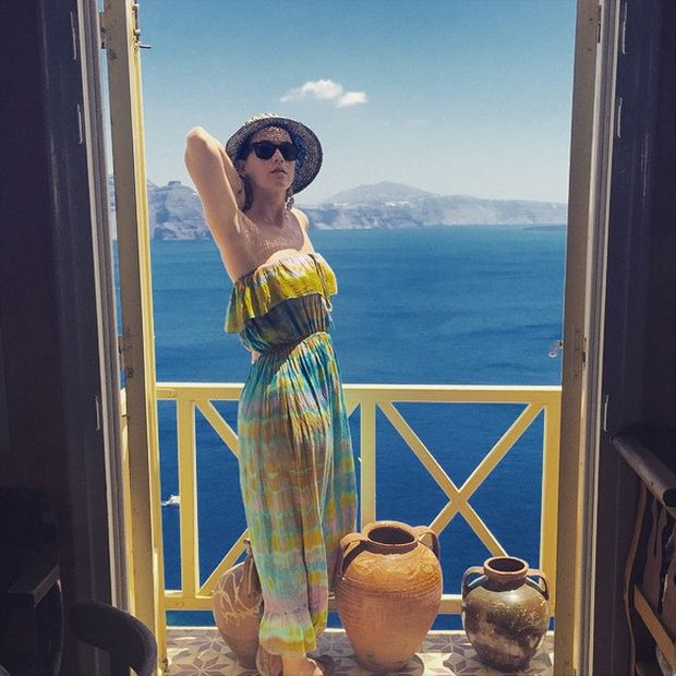 Katy Perry's travel diary through Mykonos and Santorini