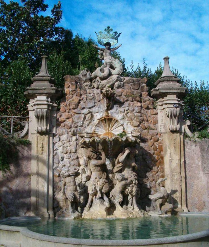 Italy, Gardens and Parks: Villa Sciarra, Roma