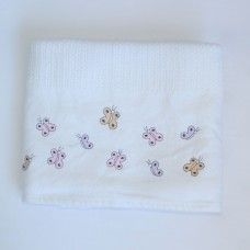 Butterflies Cellular Cotton Baby Blanket. Available online at http://www.babesandkids.co.za