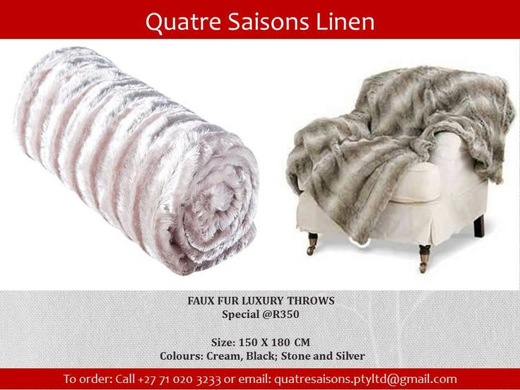 ACCESSORIES-FAUX FUR LUXURY THROWS