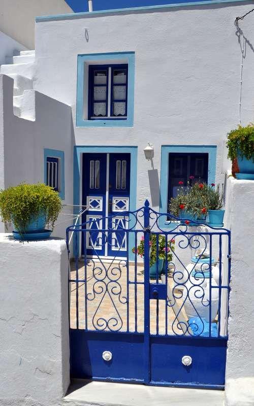 Querido Refúgio, Blog de decoração e organização com loja virtual: Inspiração grega em azul e branco caiado