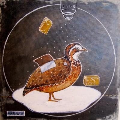 Een middelslag groot Patrys, painting by Mariaan Kotze